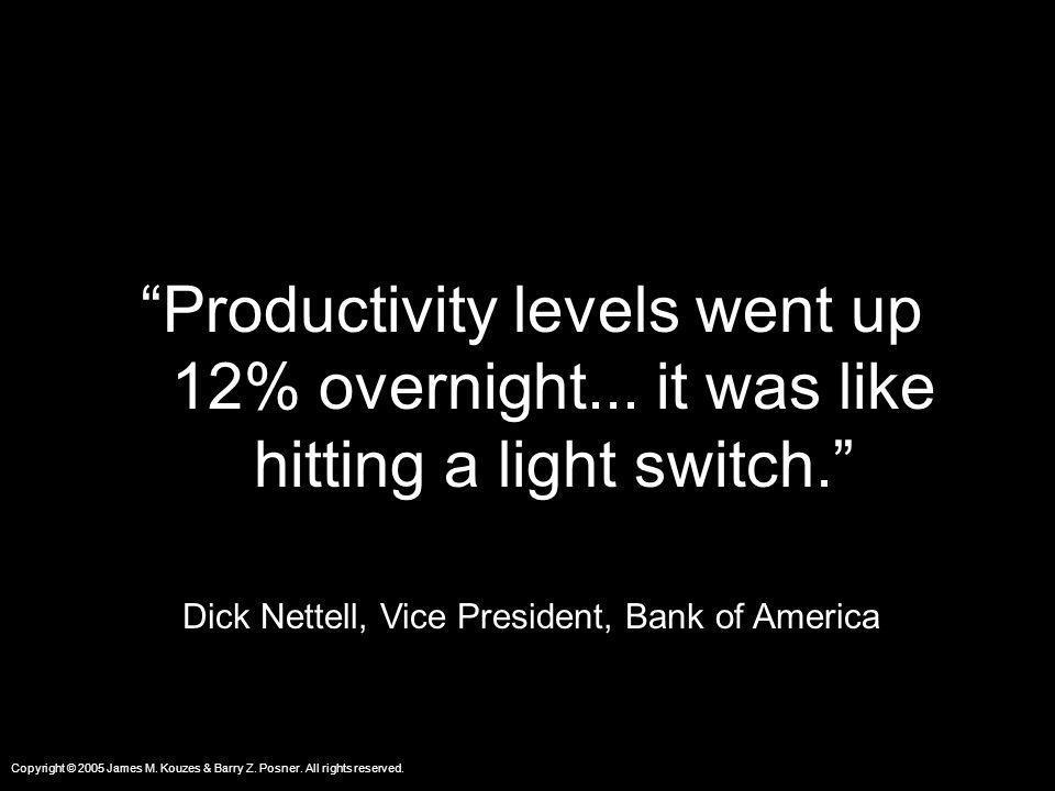 Dick Nettell, Vice President, Bank of America