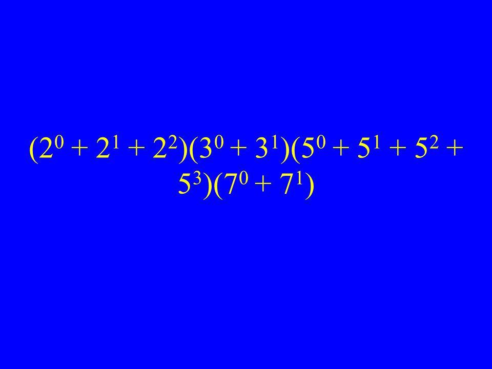 (20 + 21 + 22)(30 + 31)(50 + 51 + 52 + 53)(70 + 71)