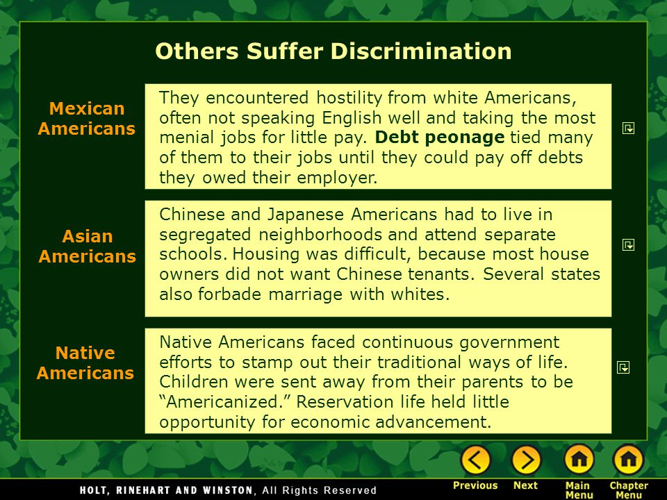 Others Suffer Discrimination