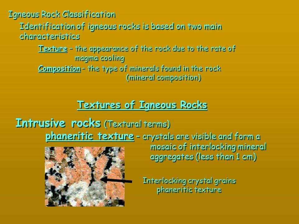 Textures of Igneous Rocks