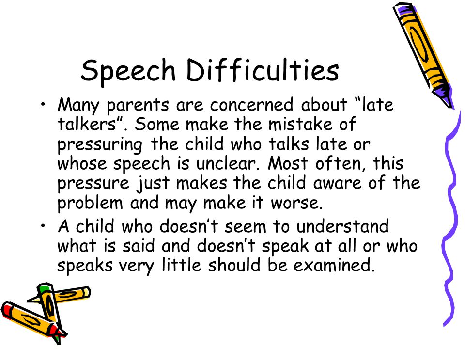 Speech Difficulties