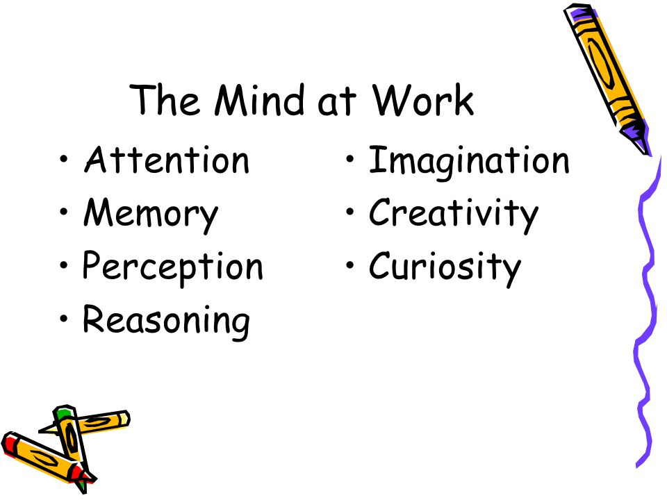 The Mind at Work Attention Memory Perception Reasoning Imagination