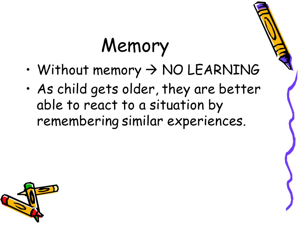 Memory Without memory  NO LEARNING