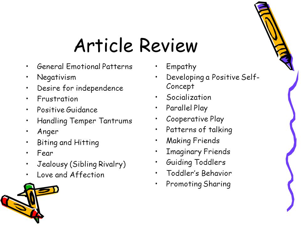 Article Review General Emotional Patterns Negativism