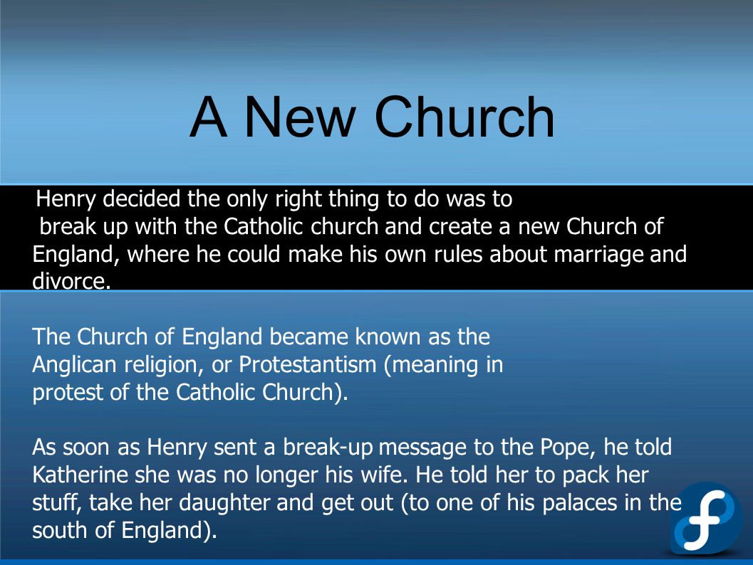 A New Church Henry decided the only right thing to do was to