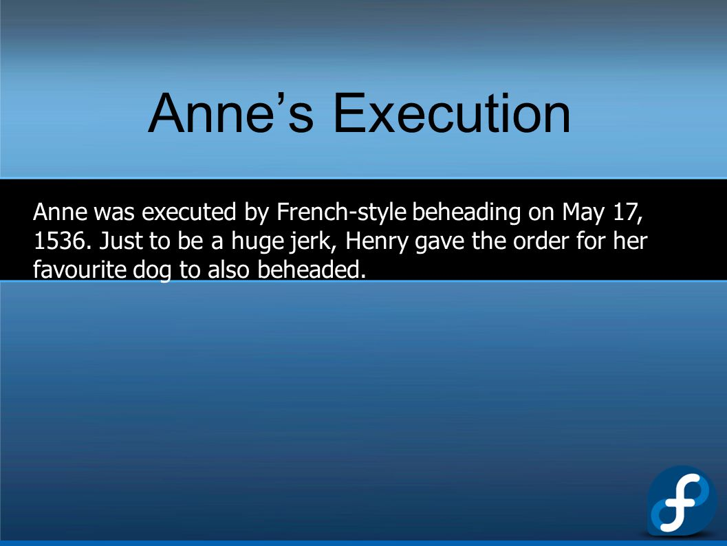 Anne's Execution