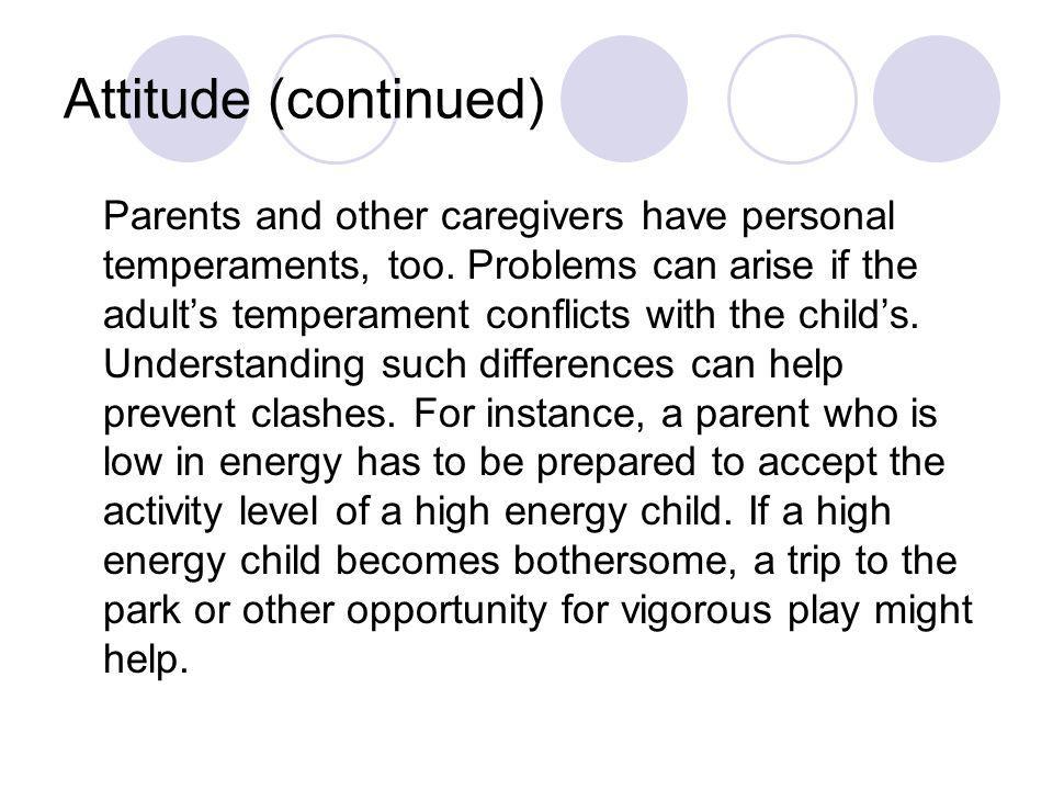 Attitude (continued)