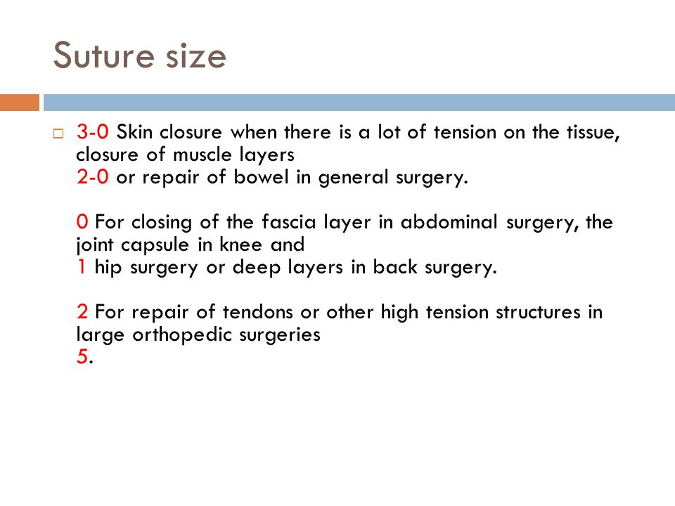 Suture size