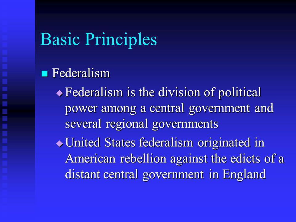Basic Principles Federalism