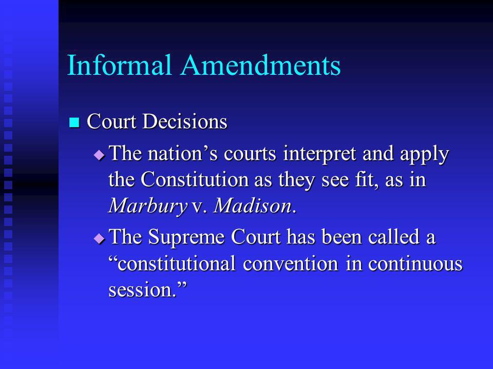 Informal Amendments Court Decisions