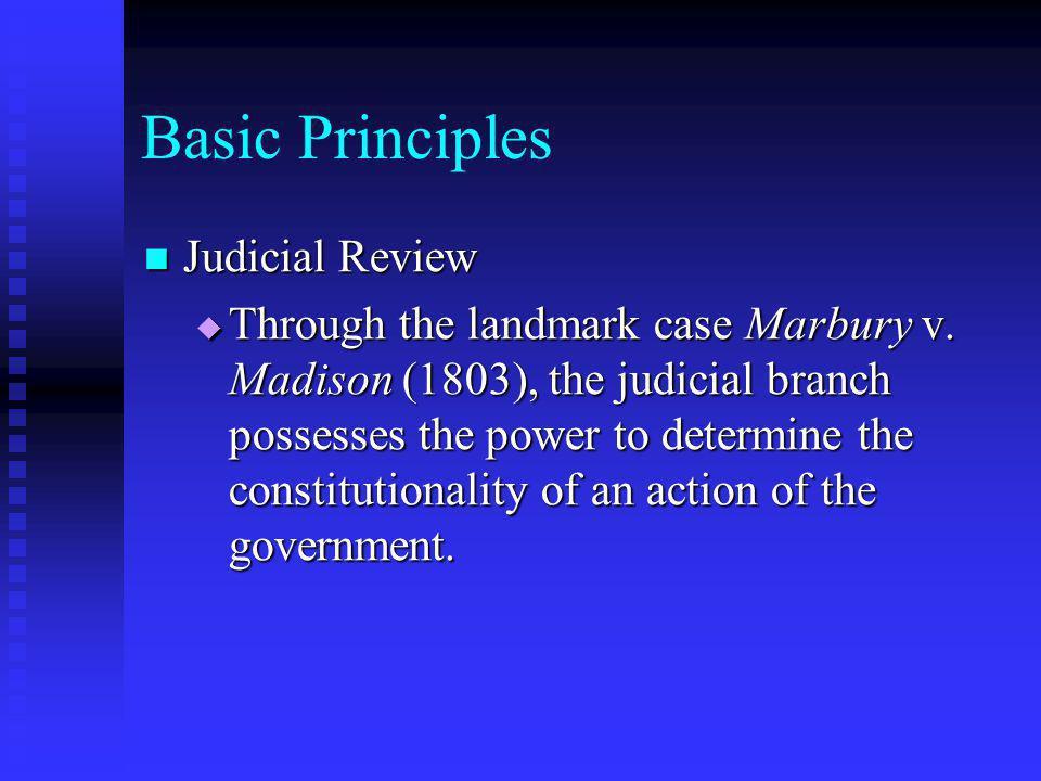 Basic Principles Judicial Review