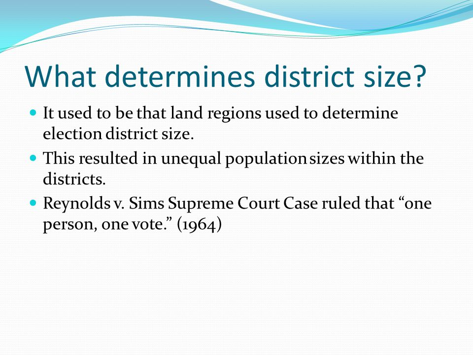 What determines district size
