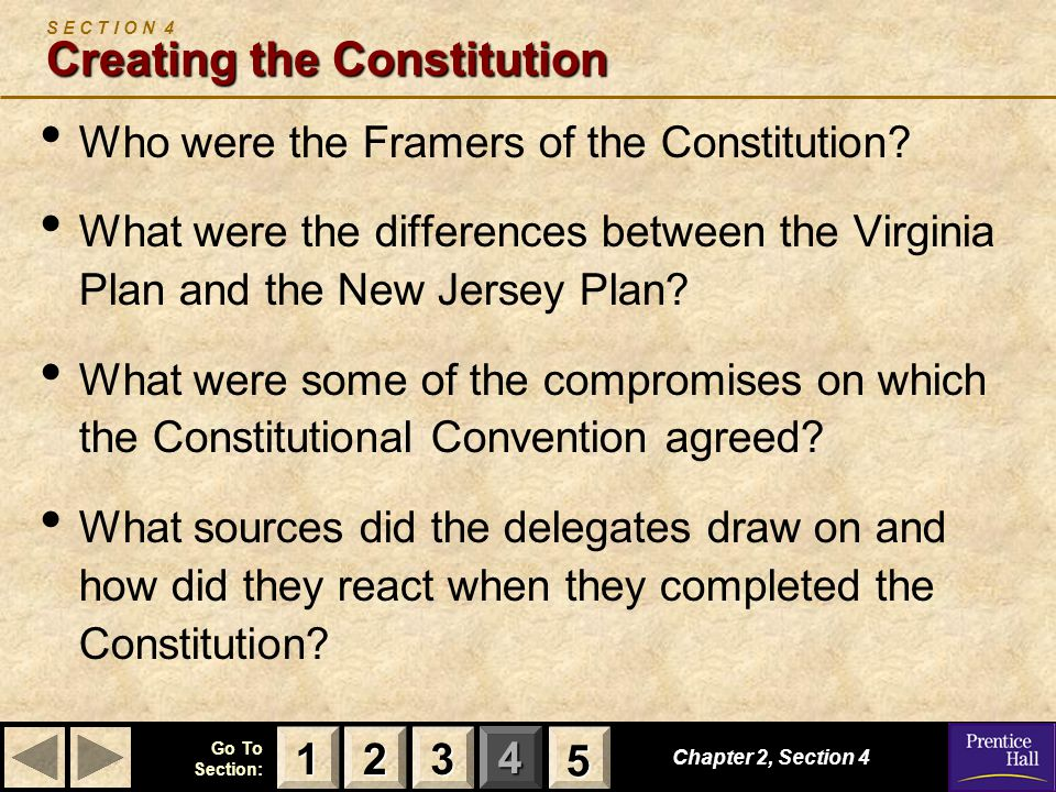 S E C T I O N 4 Creating the Constitution