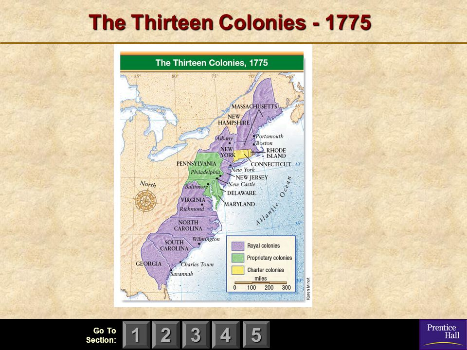The Thirteen Colonies - 1775