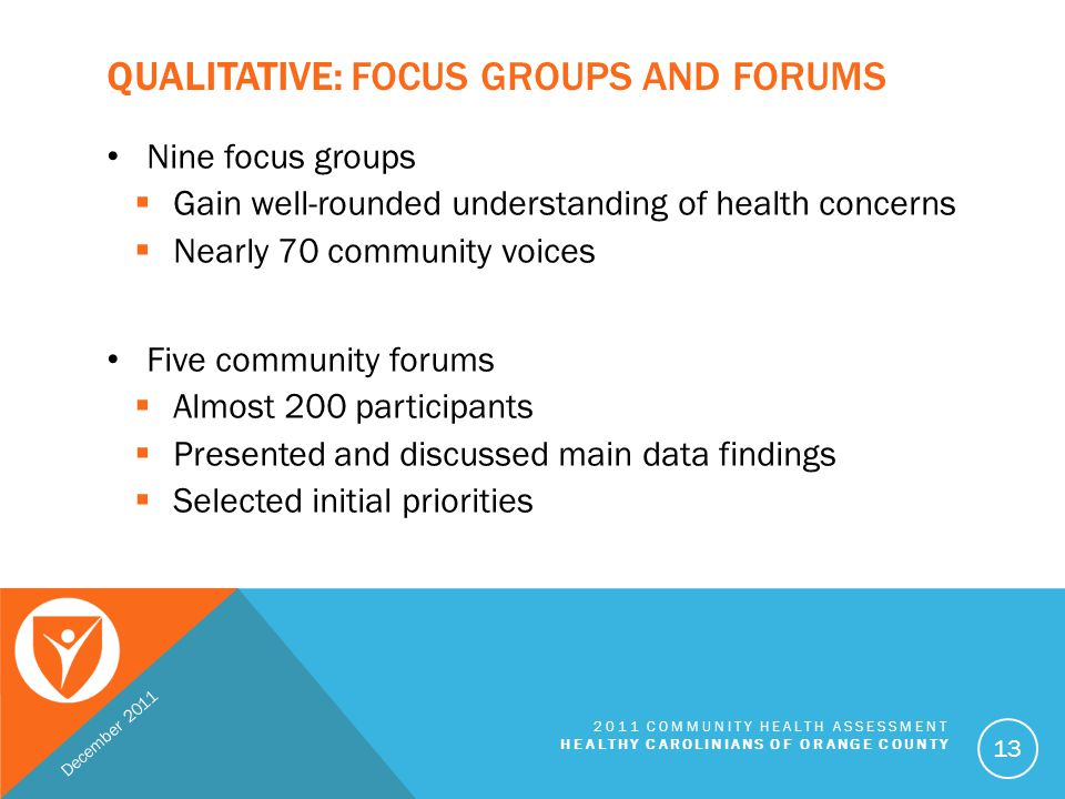 Qualitative: Focus Groups and forums