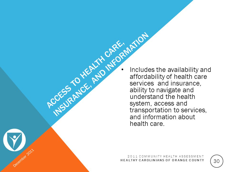 Access to Health Care, Insurance, and Information