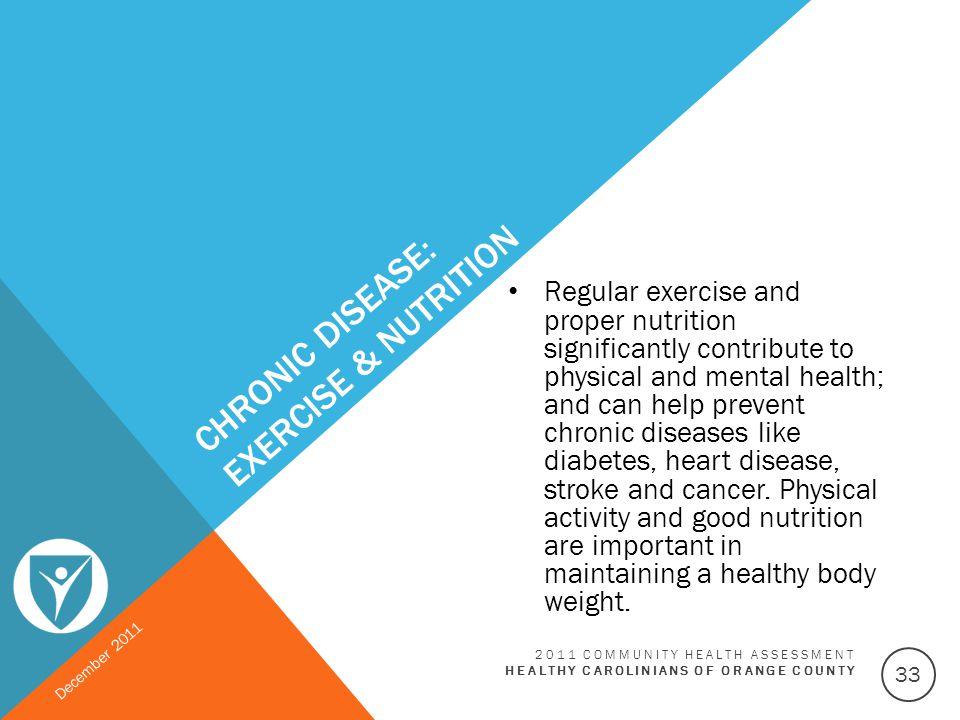 Chronic Disease: Exercise & Nutrition