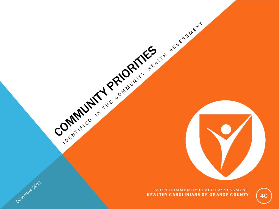 Community Priorities Identified in the Community Health Assessment