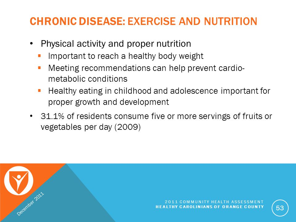 Chronic Disease: Exercise and Nutrition