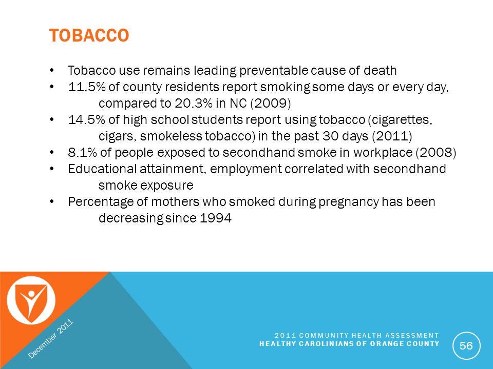 Tobacco Tobacco use remains leading preventable cause of death