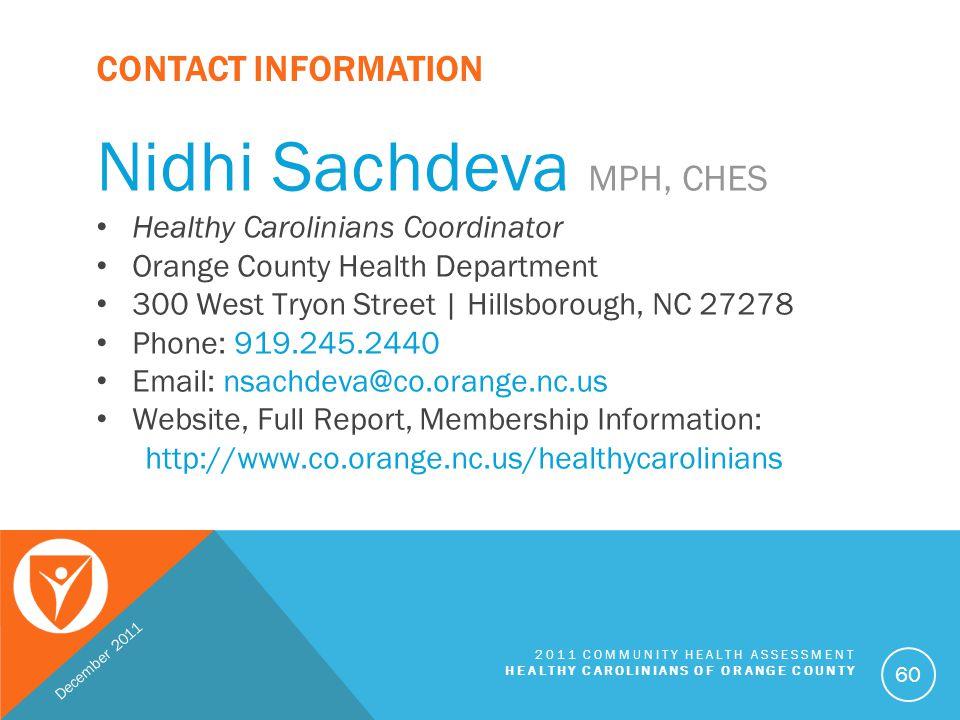 Nidhi Sachdeva MPH, CHES
