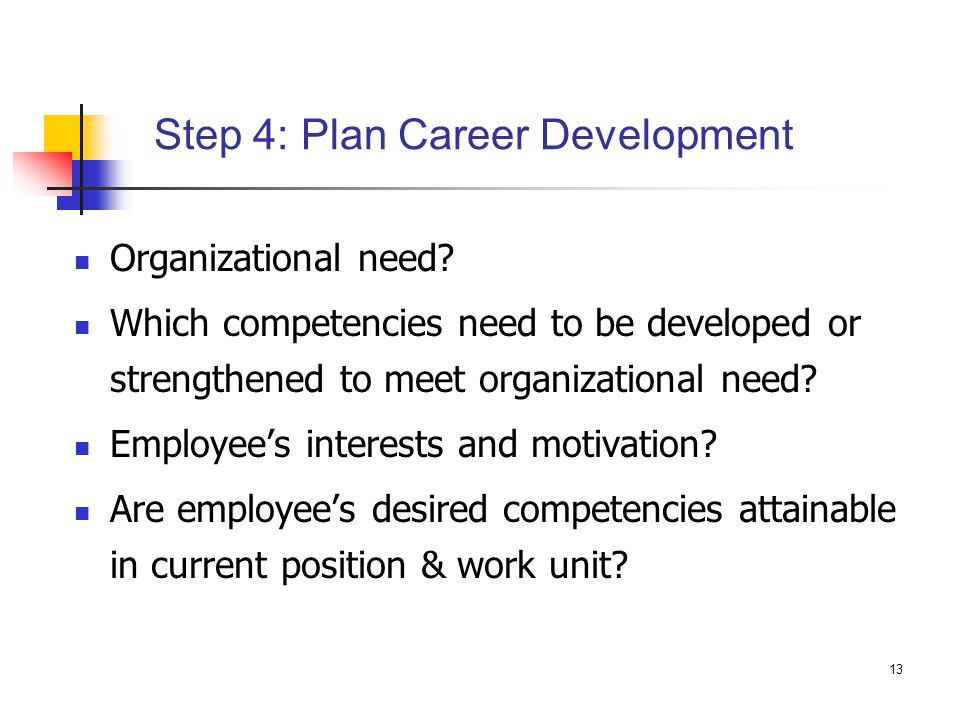 Step 4: Plan Career Development