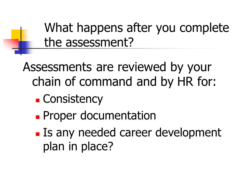 What happens after you complete the assessment