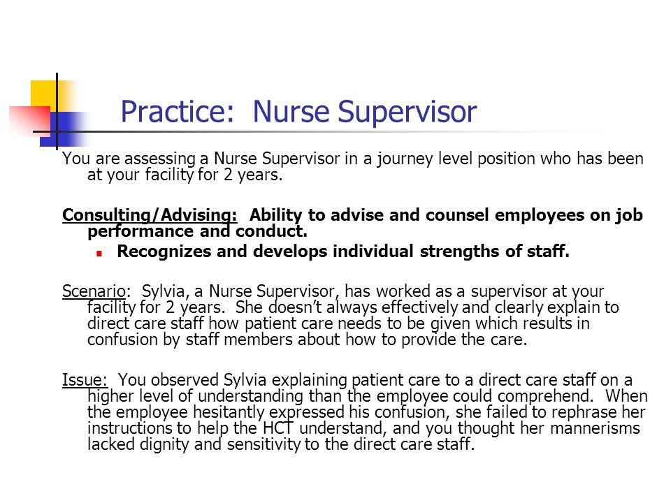 Practice: Nurse Supervisor