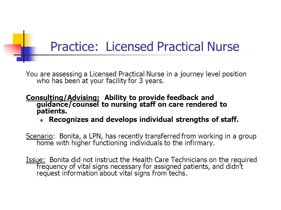 Practice: Licensed Practical Nurse