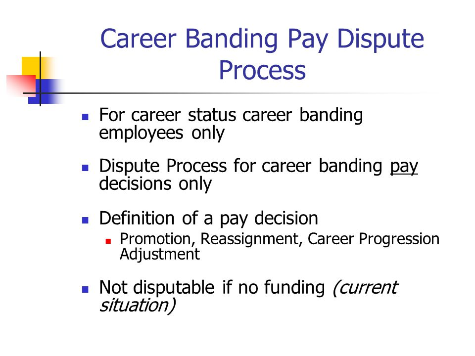Career Banding Pay Dispute Process