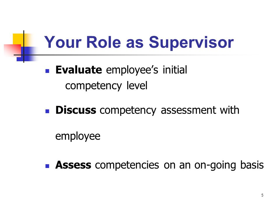 Your Role as Supervisor