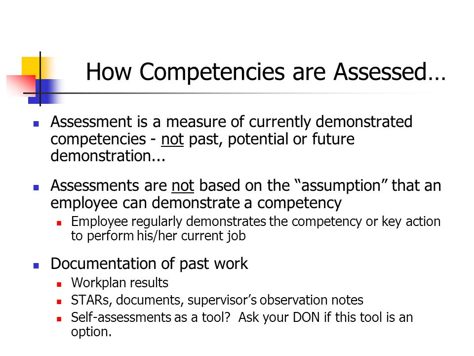 How Competencies are Assessed…