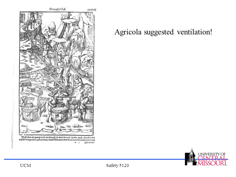 Agricola suggested ventilation!