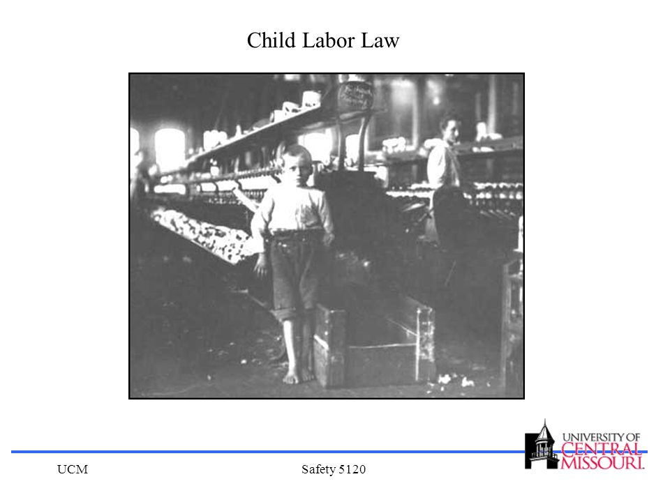 Child Labor Law UCM Safety 5120