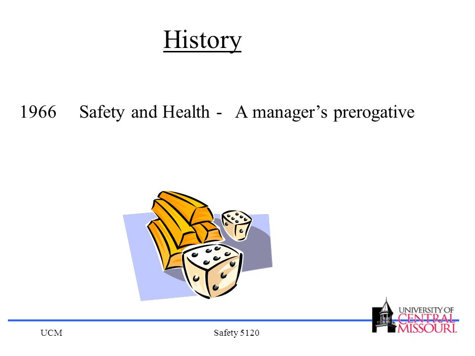 History 1966 Safety and Health - A manager's prerogative UCM