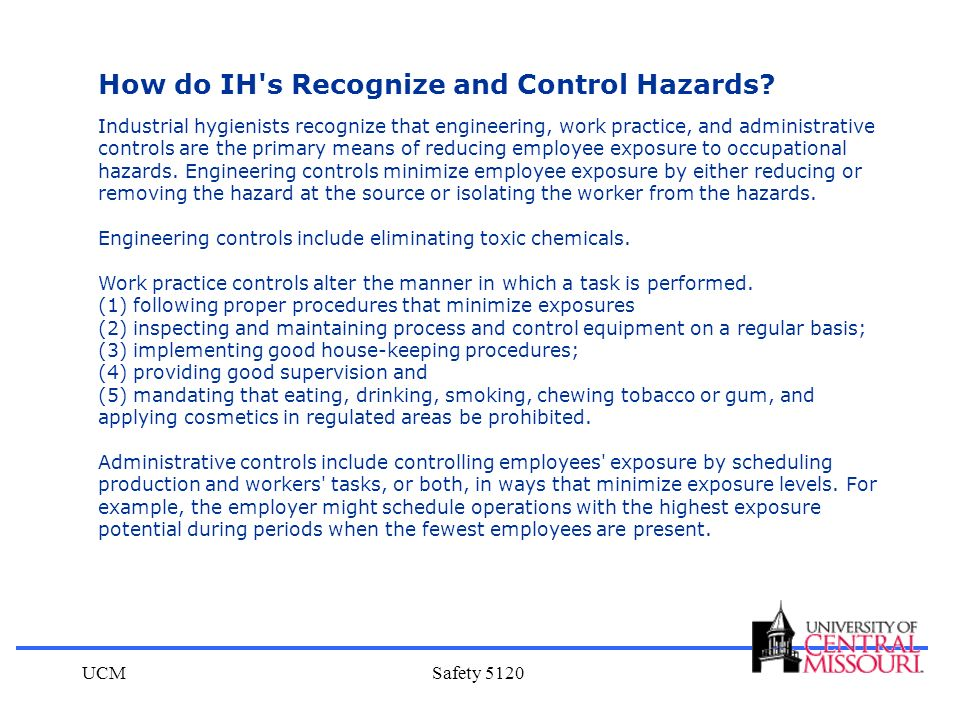 How do IH s Recognize and Control Hazards