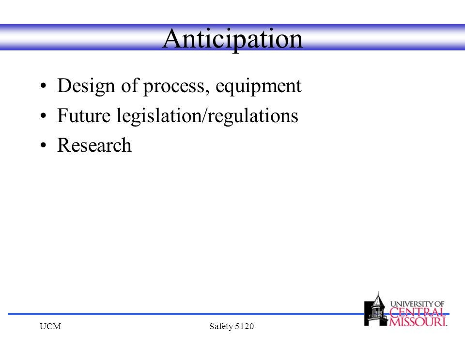 Anticipation Design of process, equipment