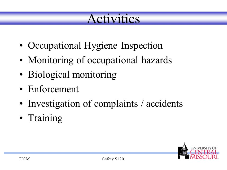 Activities Occupational Hygiene Inspection