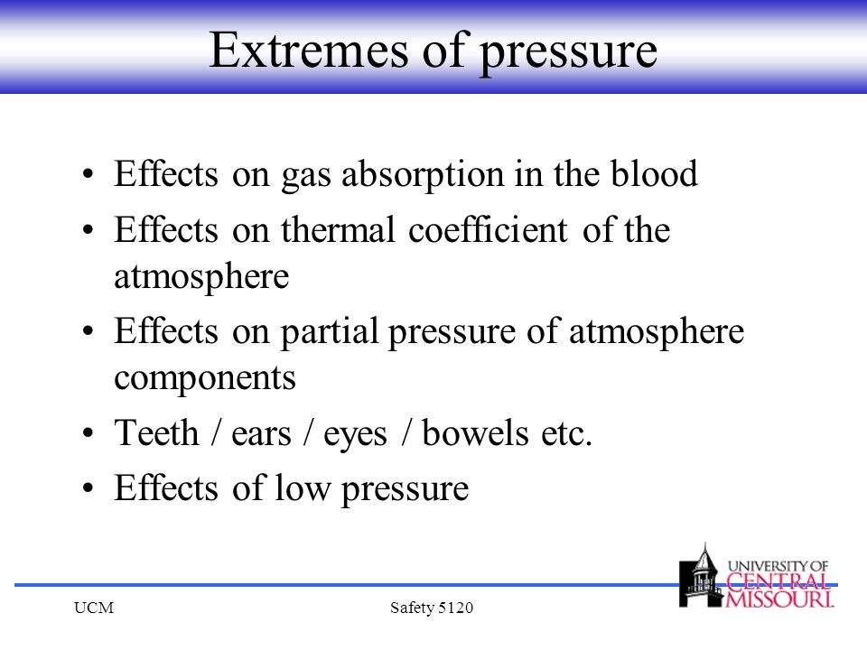 Extremes of pressure Effects on gas absorption in the blood