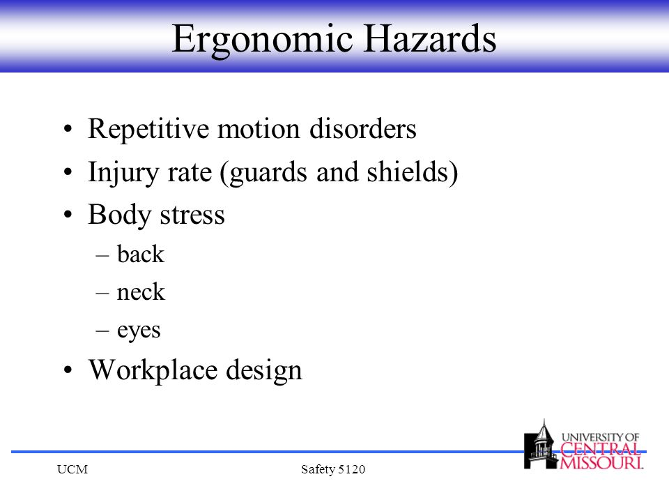 Ergonomic Hazards Repetitive motion disorders