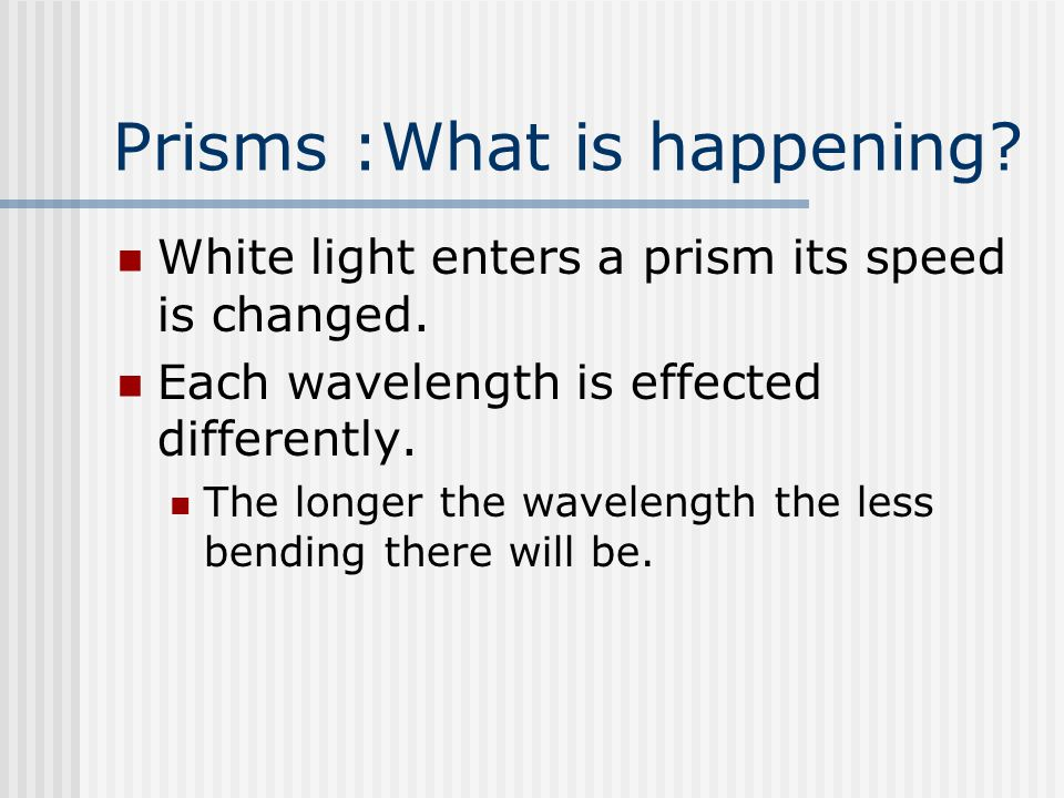 Prisms :What is happening