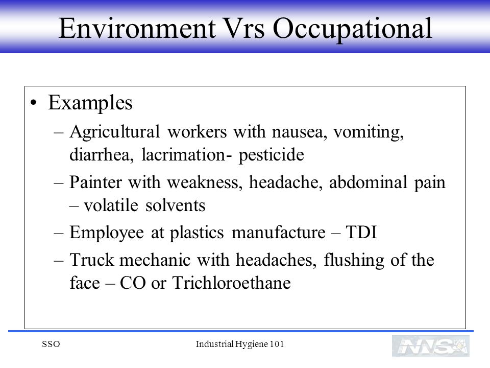 Environment Vrs Occupational