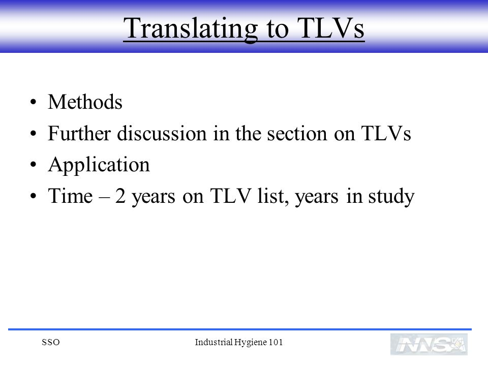 Translating to TLVs Methods Further discussion in the section on TLVs