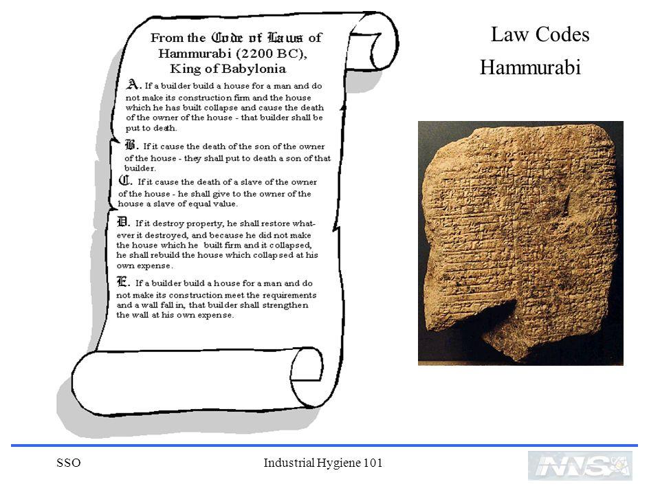 Law Codes Hammurabi SSO Industrial Hygiene 101