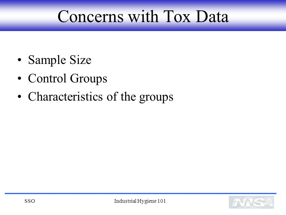 Concerns with Tox Data Sample Size Control Groups