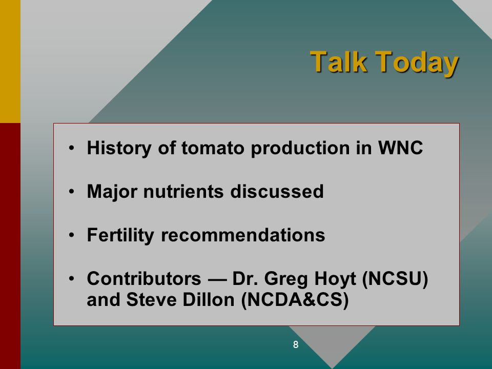 Talk Today History of tomato production in WNC