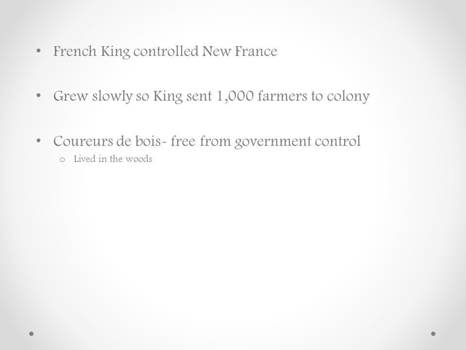 French King controlled New France