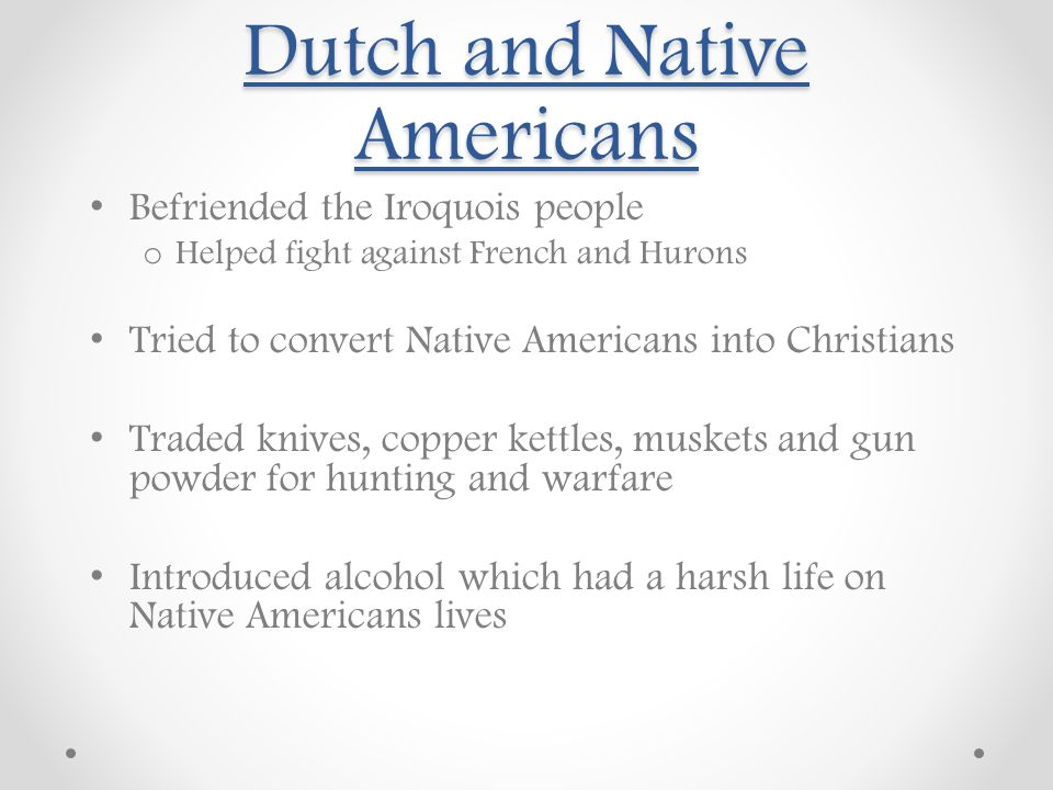Dutch and Native Americans