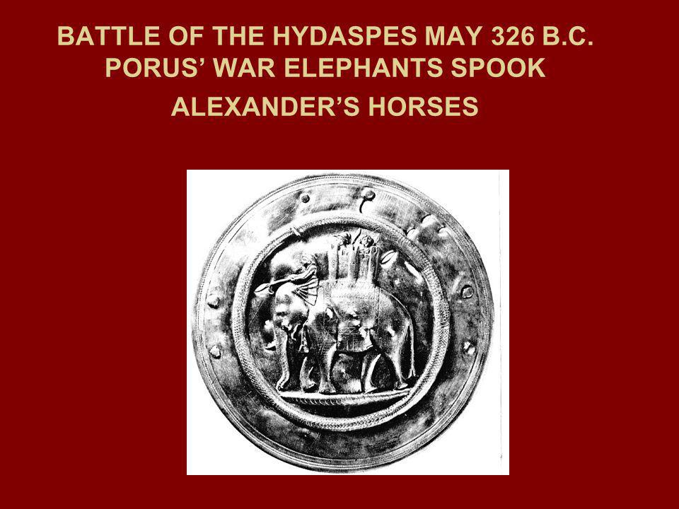 BATTLE OF THE HYDASPES MAY 326 B. C
