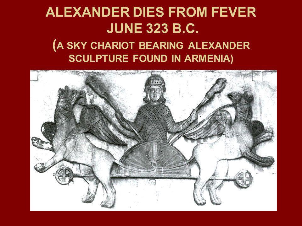 ALEXANDER DIES FROM FEVER JUNE 323 B. C